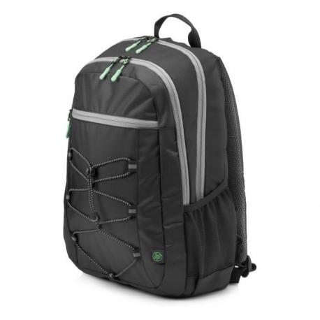 """HP Sac a dos pour ordinateur portable Active Backpack  15.6""""  Noir et Vert menthe"""