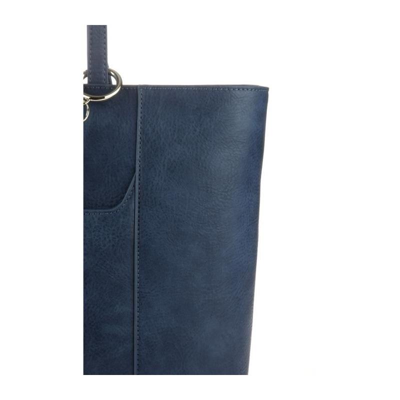 b7f9e4f7f949 ARMANI JEANS Sac Cabas Bleu Océan En Similicuir Grainé et Petite Pochette  Noire Femme