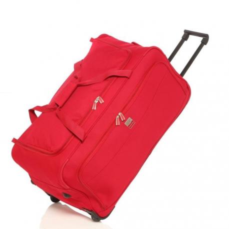 FRANCE BAG Sac de Voyage a Roulettes Souple 72 cm Rouge