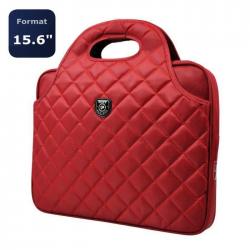 """Sacoche matelassée 15,6""""  Firenze Rouge"""