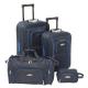 CHALLENGER Set de 2 Valises Souple 2 Roues 5464 cm  Sac Cabine 50 cm  Vanity 24 cm Bleu