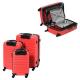 FRANCE BAG Set de 3 Valises Rigide ABS 4 Roues 556570cm Rouge