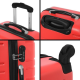 FRANCE BAG Set de 3 Valises Rigide ABS 4 Roues 556570cm Rouge