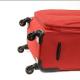 KINSTON Set de 3 Valises Souple 4 Roues 516171cm Rouge