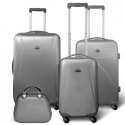 KINSTON Set 3 valises 4 roues  Vanity Gris clair