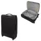 VISA DELSEY Valise Cabine Low Cost Extensible Souple 2 Roues 55cm PIN UP5 Noir