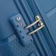 VISA DELSEY Valise Trolley Rigide Polypropylene 4 Roues 66cm SEJOUR Bleu