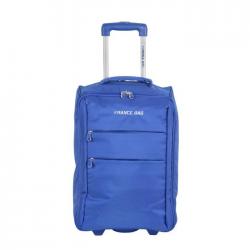 FRANCE BAG Valise Cabine Low Cost Souple 2 Roues 34cm bleu