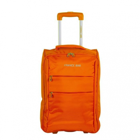 FRANCE BAG Valise Cabine Low Cost Souple 2 Roues 34cm orange