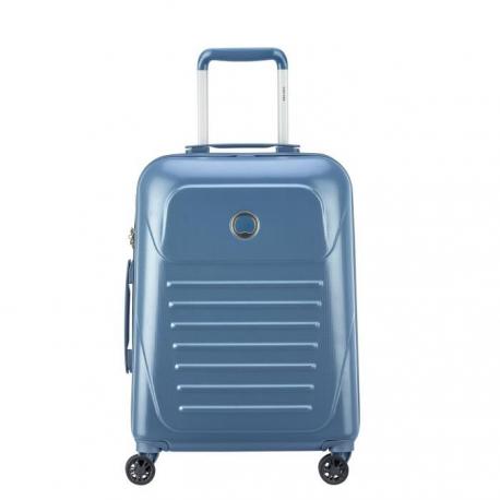 VISA DELSEY Valise Cabine Slim Munia Trolley  55 cm  4 Roues  Bleu