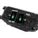 IKASE Valise Cabine Connectée Trolley Rigide Polycarbonate  8 Roues  50 cm  Noir
