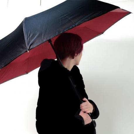 KINSTON Parapluie inversé Noir/Rouge