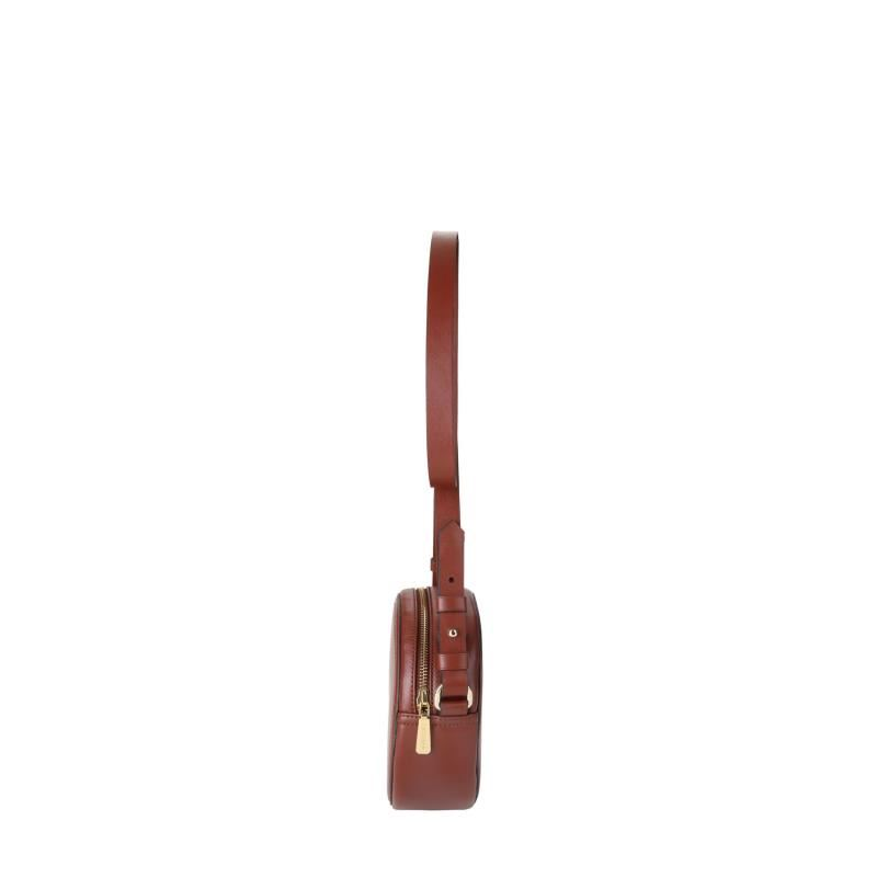 Kesslord Sac Mini Vachette Lisse En Cuir Femme De Bandouliere Chocolat PkiZuX