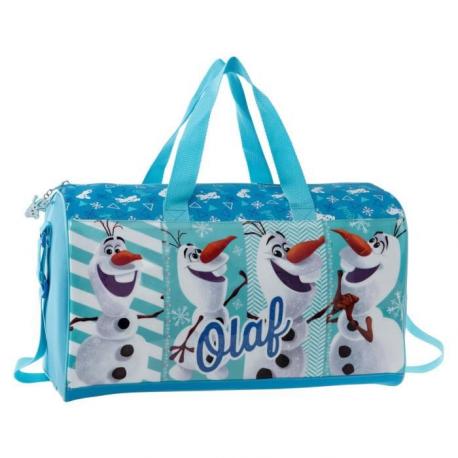 OLAF Disney Sac de Voyage Souple 24cm Bleu, Vert et Blanc