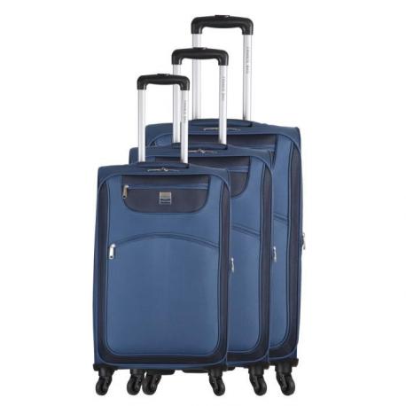 FRANCE BAG Set de 3 Valises Souple 4 Roues 566676cm Beu