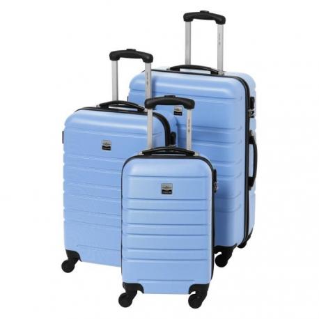 FRANCE BAG Set de 3 Valises Rigide ABS 4 Roues 556570cm Lavande