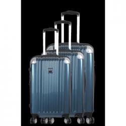 FRANCE BAG  Set de 3 valises  ABS/POLYCARBONATE Bleu Métal