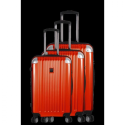FRANCE BAG  Set de 3 valises ABS/POLYCARBONATE 8 roues Orange