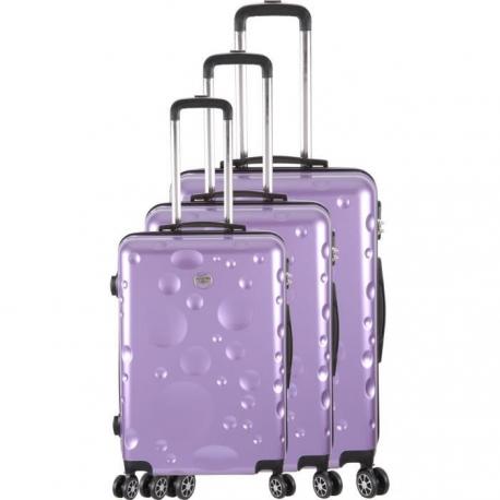 FRANCE BAG Set de 3 Valises 8 roues abs/polycarbonate Parme