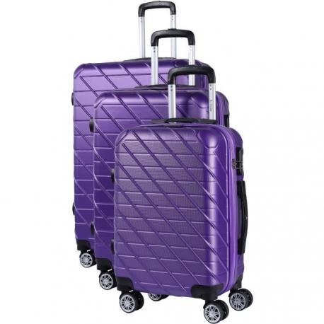 JEAN LOUIS SCHERRER Set de 3 Valises ABS 8 roues 75 Violet