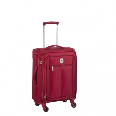 VISA DELSEY Valise Trolley Extensible Souple 4 Roues 68cm PIN UP5 Rouge