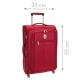 VISA DELSEY Valise Cabine Low Cost Extensible Souple 2 Roues 55cm PIN UP5 Rouge