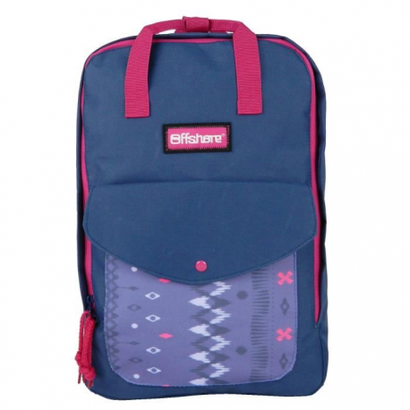 pas mal 01620 7ae82 OFFSHORE SAC A DOS College Fille 27x11x40 VIOLET